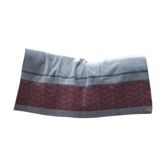 KENTUCKY Fleecedecke Square Heavy Fishbone grey/bordeaux 210x200cm