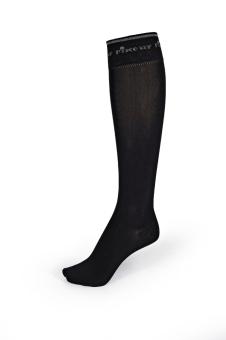 PIKEUR Kniestrumpf dünner Fuß schwarz